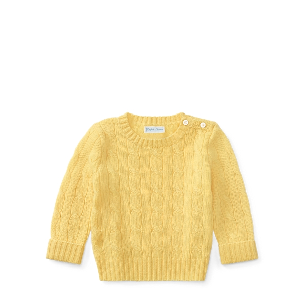 Ralph Lauren Cable-Knit Cashmere Sweater Fall Yellow 18-24M