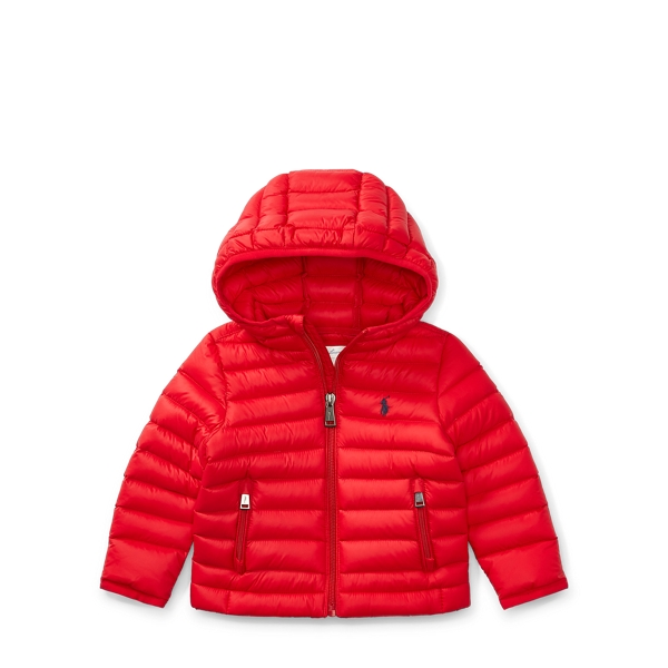 Ralph Lauren Packable Quilted Down Jacket Cruise Red 3M