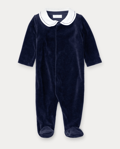 Cotton-Blend Velour Coverall