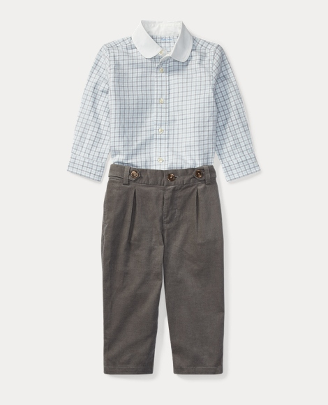 Cotton Shirt & Trouser Set