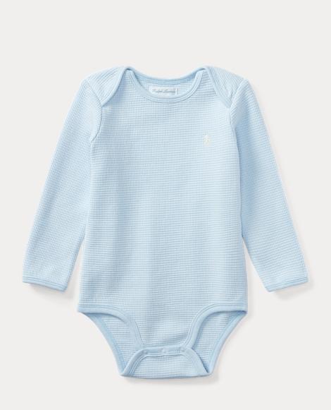 Waffle-Knit Cotton Bodysuit