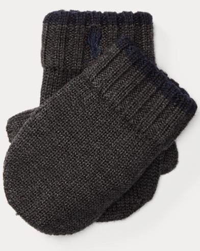Tipped Merino Wool Mittens