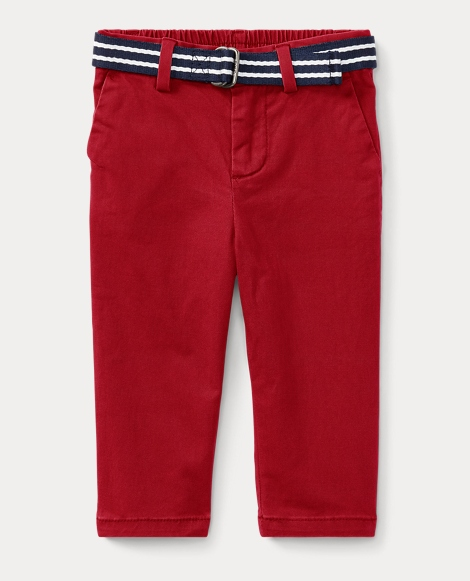 Belted Stretch Cotton Chino