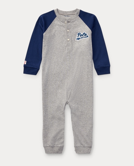 Cotton Jersey Henley Coverall