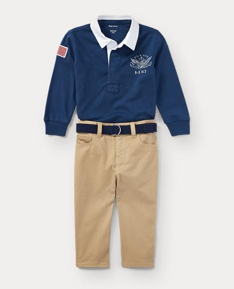 Cotton Shirt, Belt & Pant Set
