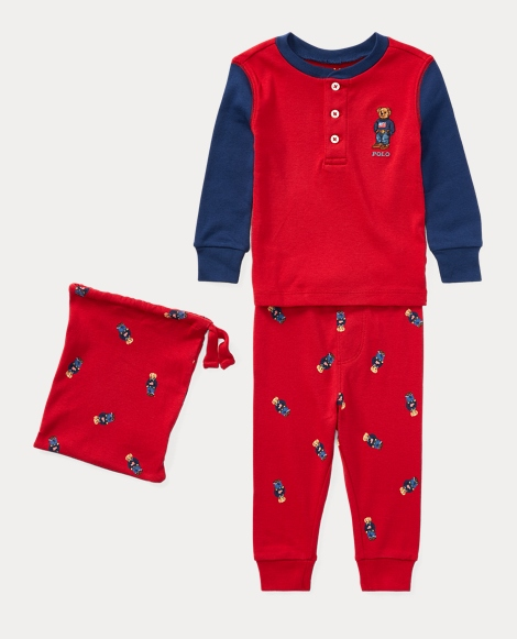 Polo Bear Cotton Pajama Set