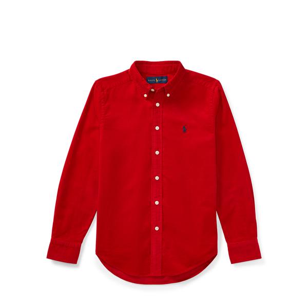 Ralph Lauren Cotton Corduroy Sport Shirt Martin Red L