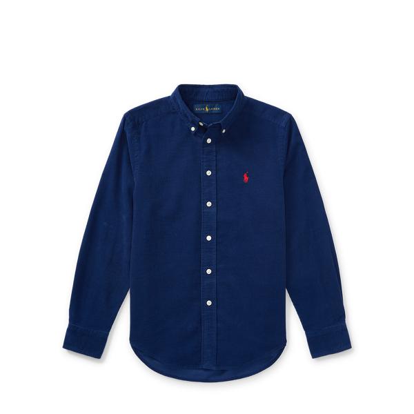 Ralph Lauren Cotton Corduroy Sport Shirt Fall Royal M
