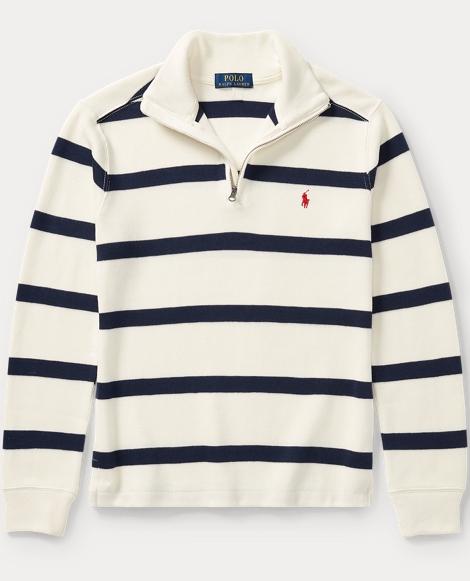 Striped French-Rib Pullover