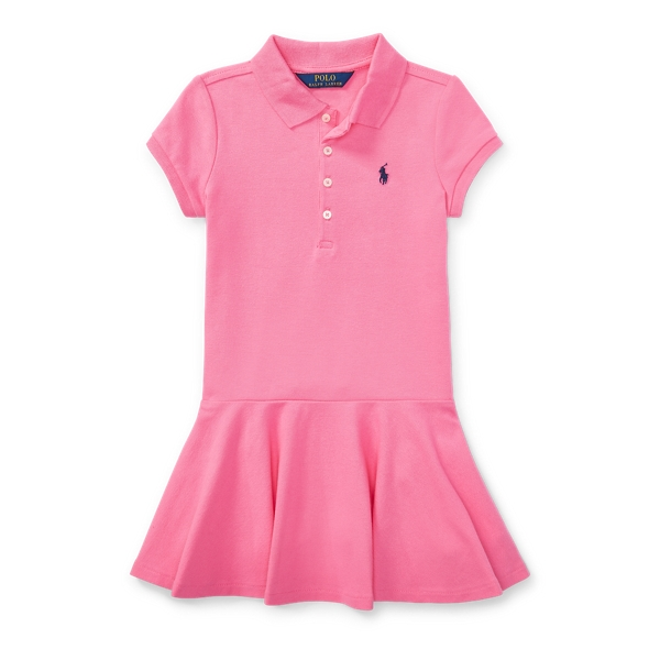 Ralph Lauren Short-Sleeve Polo Dress Pink 6X