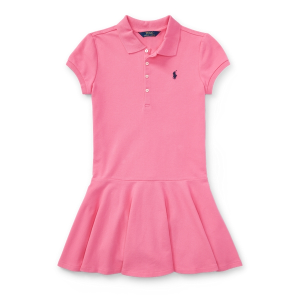 Ralph Lauren Stretch Cotton Mesh Polo Dress Pink M