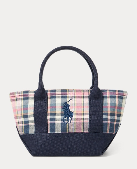 Cotton Madras Mini Ralph Tote