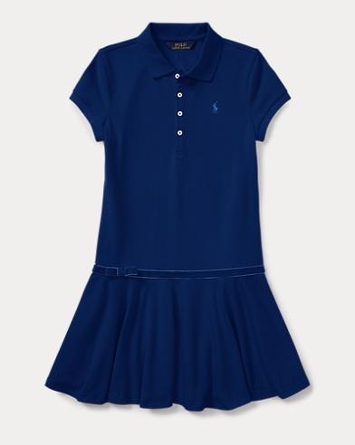 Stretch Cotton Polo Dress