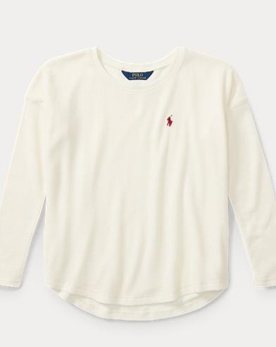 Waffle-Knit Cotton Jersey Top
