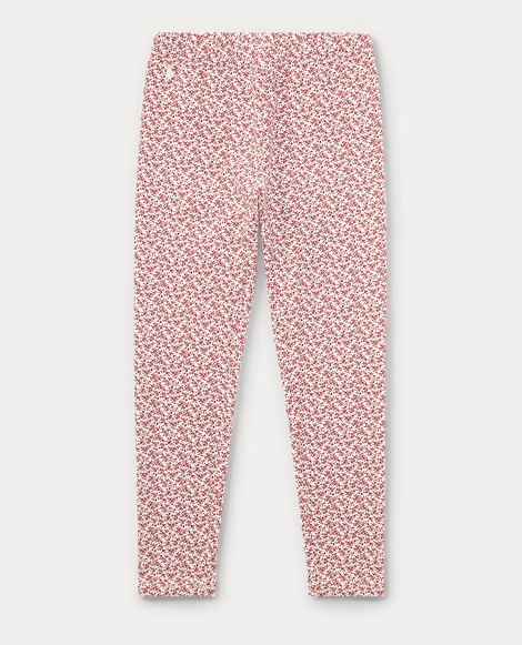 Floral Stretch Cotton Legging