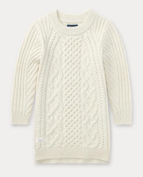 Aran Wool-Cotton Sweater Dress