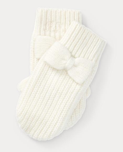 Bow Wool-Blend Mittens