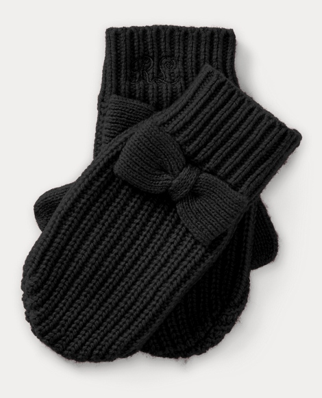 Bow Wool-Blend Mittens