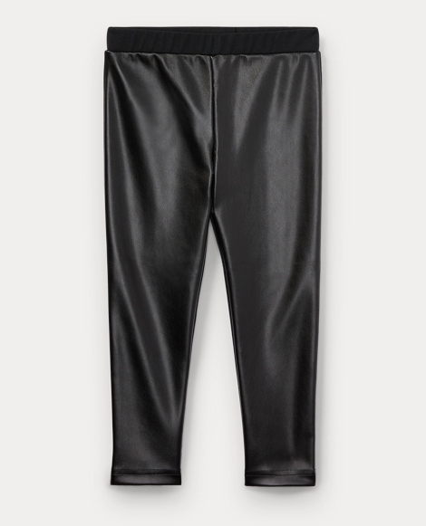 Faux-Leather Stretch Legging