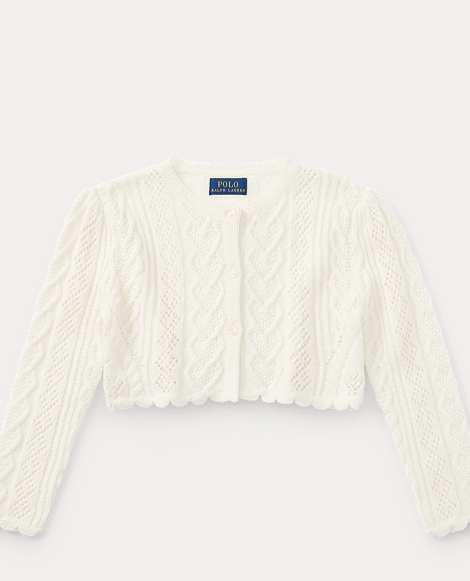 Scallop-Trimmed Cardigan