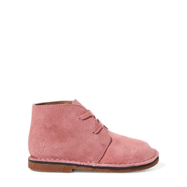 Ralph Lauren Carl Suede Chukka Boot Pink Suede 6.5