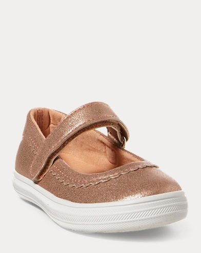 Faux-Leather Mary Jane Sneaker