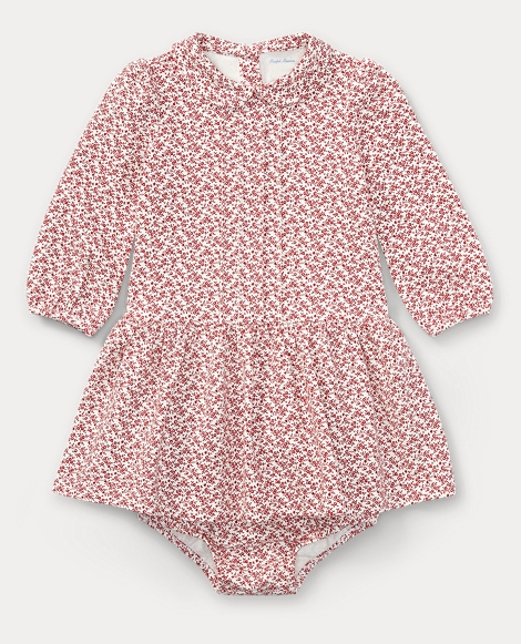 Cotton Floral Dress & Bloomer