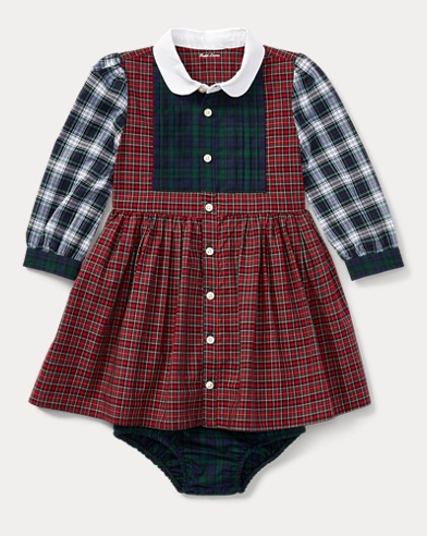 Tartan Poplin Dress & Bloomer
