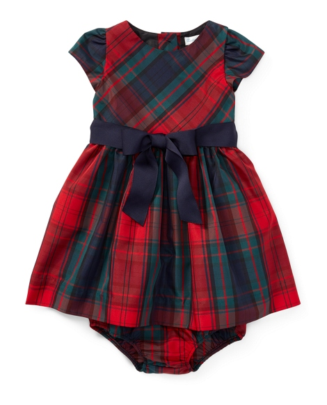 Tartan Taffeta Dress & Bloomer