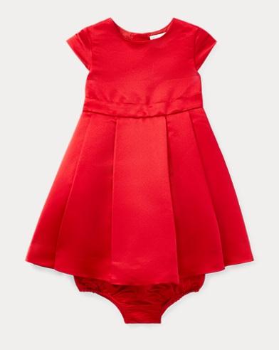 Pleated Satin Dress & Bloomer