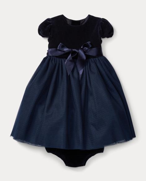 Velvet-Tulle Dress & Bloomer
