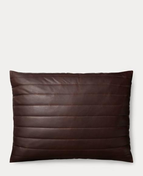 Afton Leather Throw Pillow