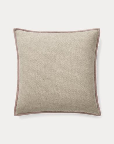 Lane Suede-Trim Throw Pillow