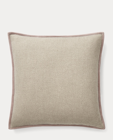 Lane Suede-Trim Throw Pillow