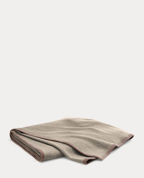 Lane Suede-Trim Throw Blanket