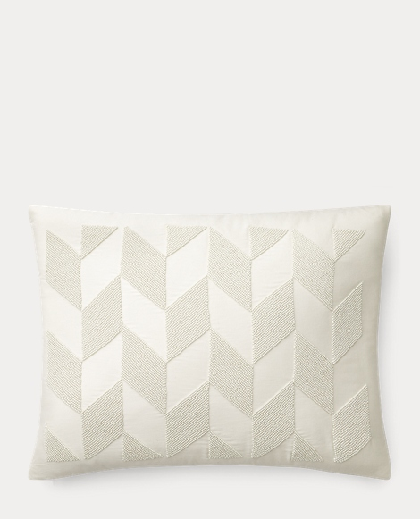 Lucia Beaded Throw Pillow