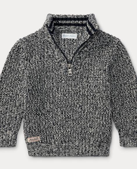 Cotton Half-Zip Sweater