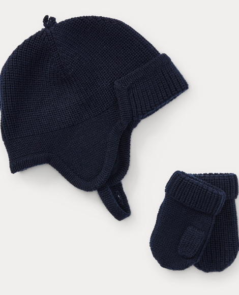 Merino Wool Hat & Mitten Set