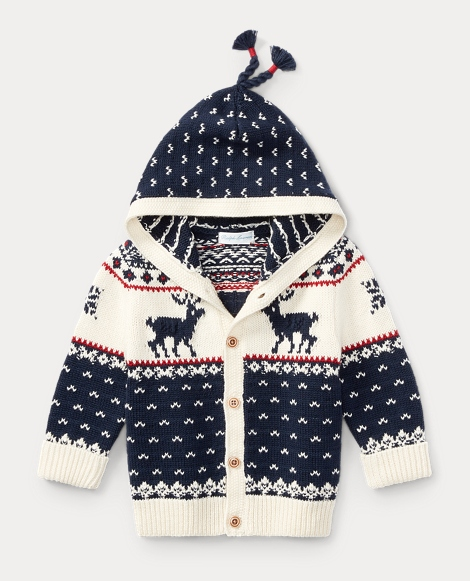 Reindeer Cotton-Wool Cardigan