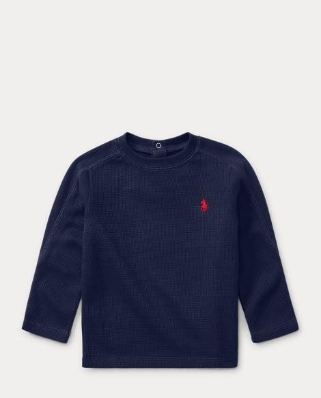 Waffle Cotton-Blend T-Shirt