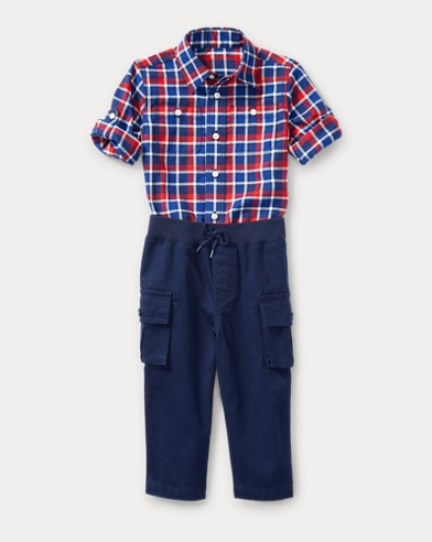 Cotton Shirt & Cargo Set