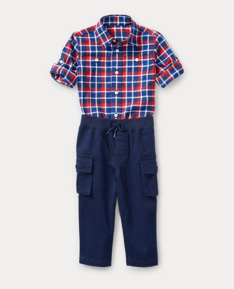Cotton Shirt & Cargo Set