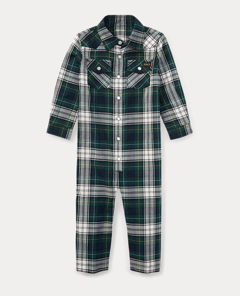 Plaid Cotton Western Coverall