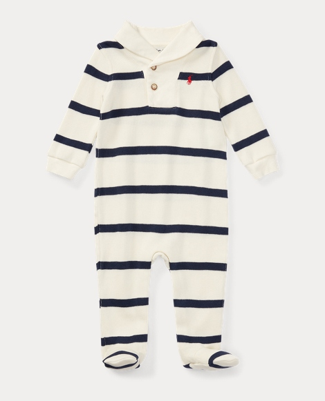 Striped French-Rib Coverall