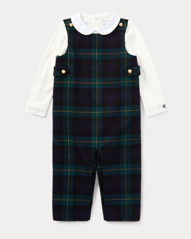 Bodysuit & Wool Overall Set