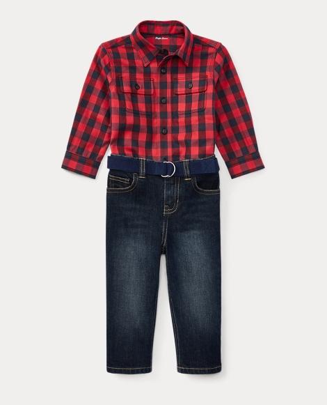 Shirt, Belt & Jean Set