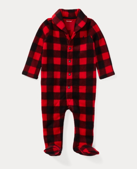 Checked Fleece Shawl Coverall