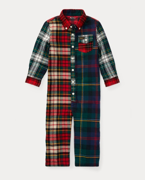 Plaid Cotton Twill Coverall
