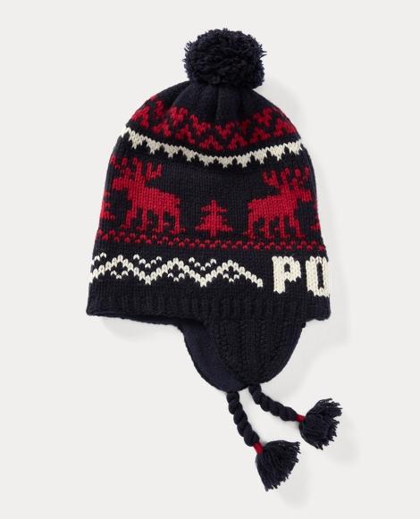 Reindeer Merino Wool Hat