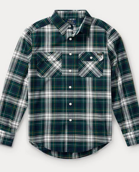 Plaid Cotton Twill Workshirt
